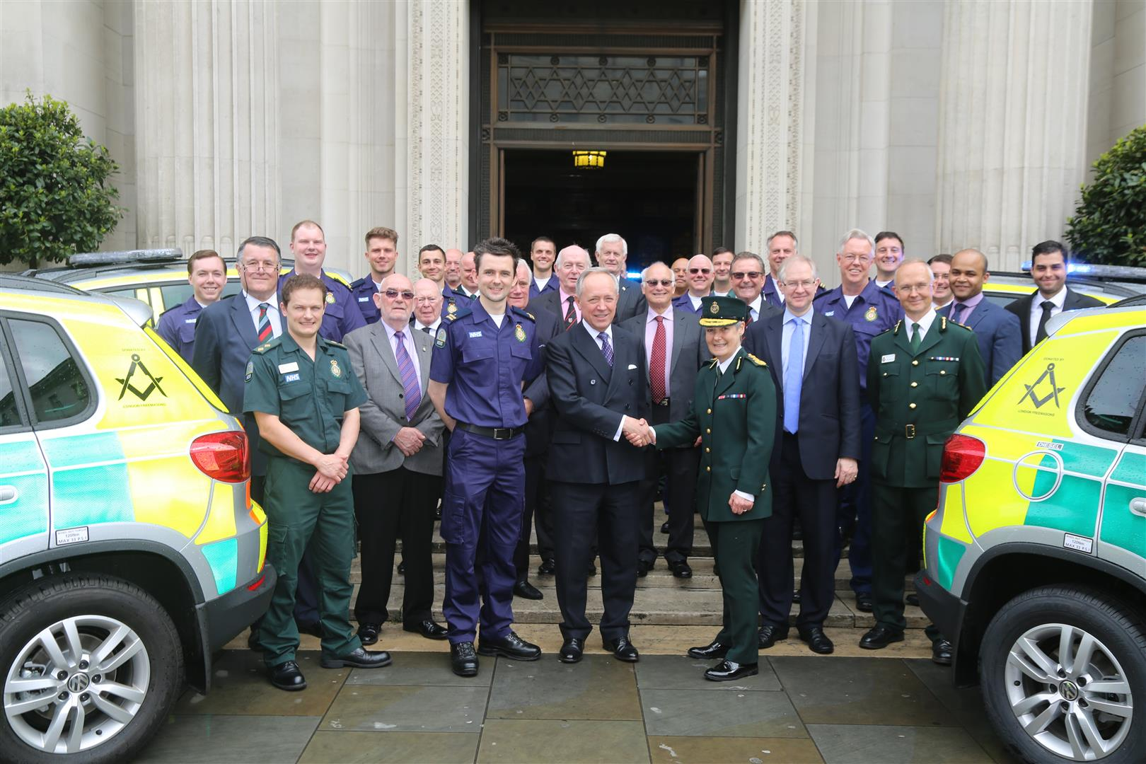 MORE MASONIC SUPPORT FOR THE LONDON EMERGENCY SERVICES