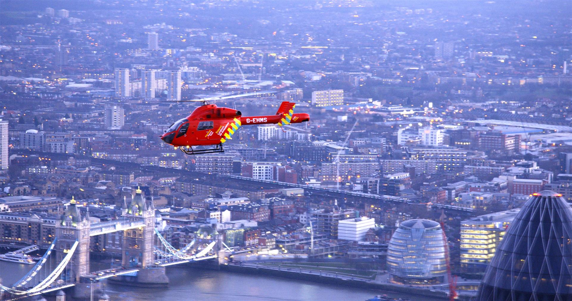 £100,000 SURPRISE FOR AIR AMBULANCE