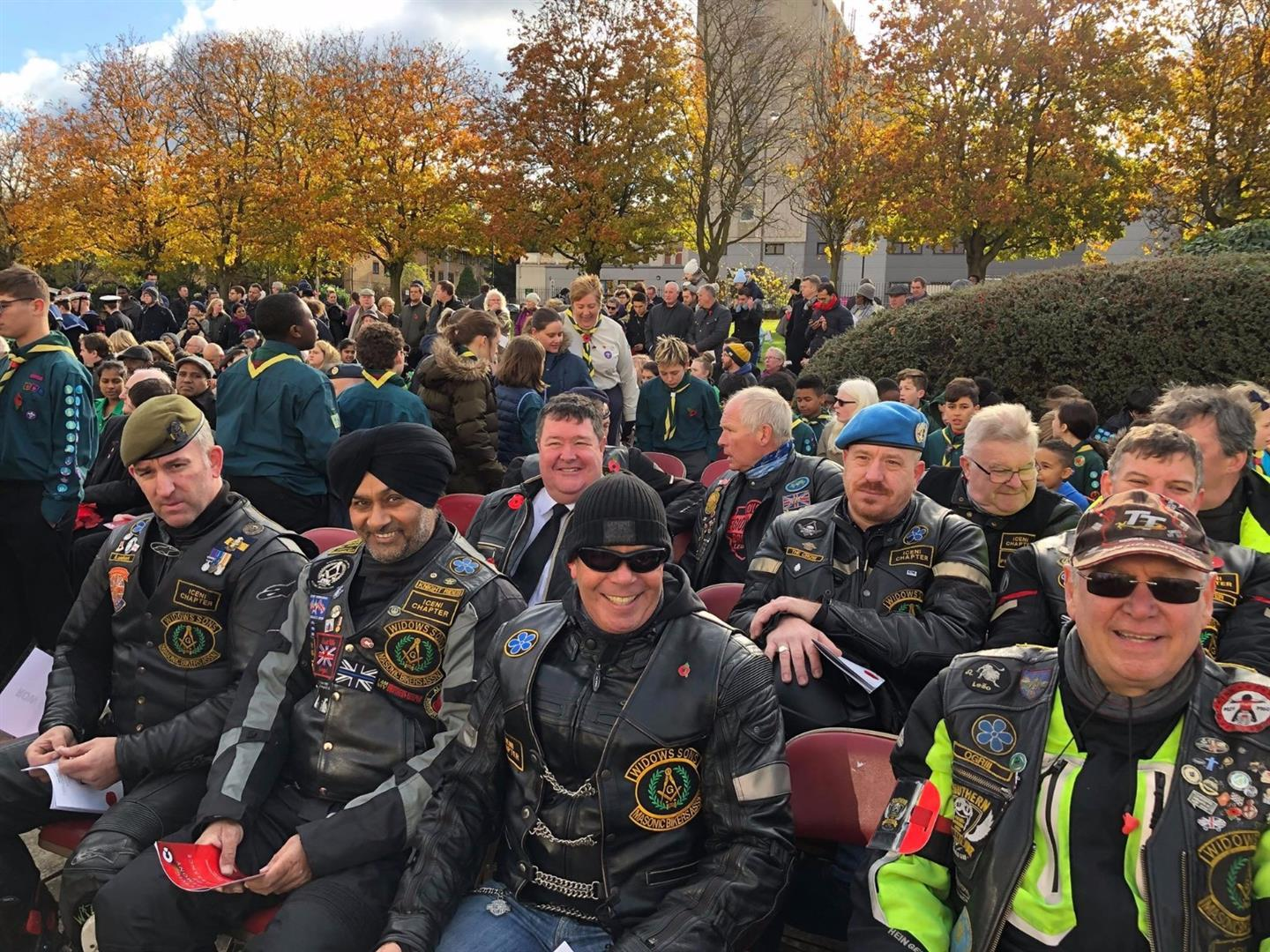 Widows Sons Masonic Bikers Association rememberance