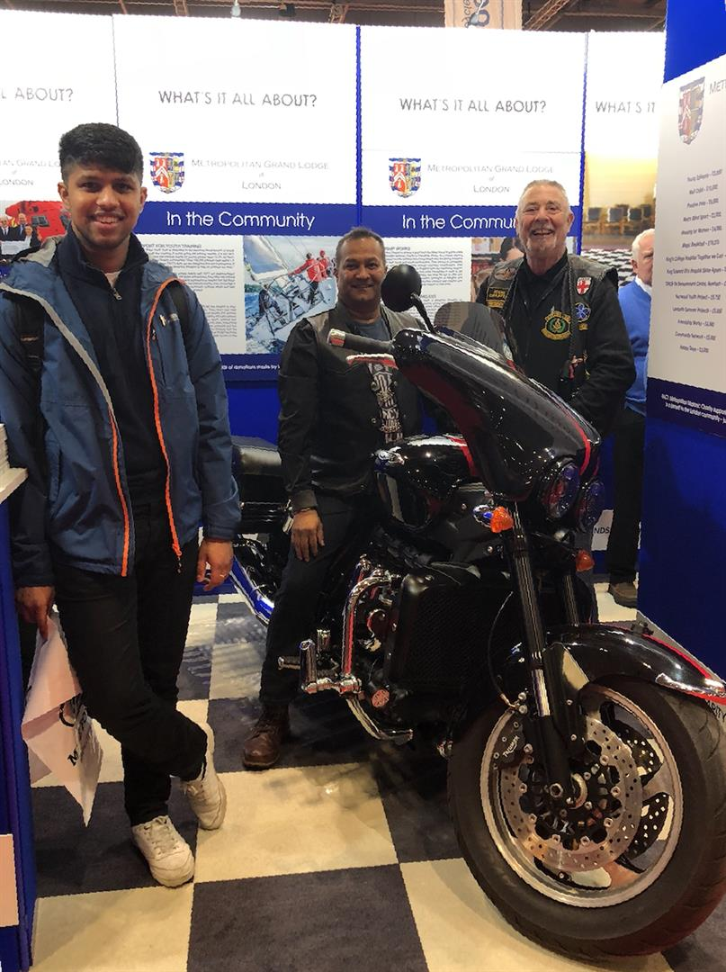 Masonic Bikers Surprise at the Excel MCN Bike Show