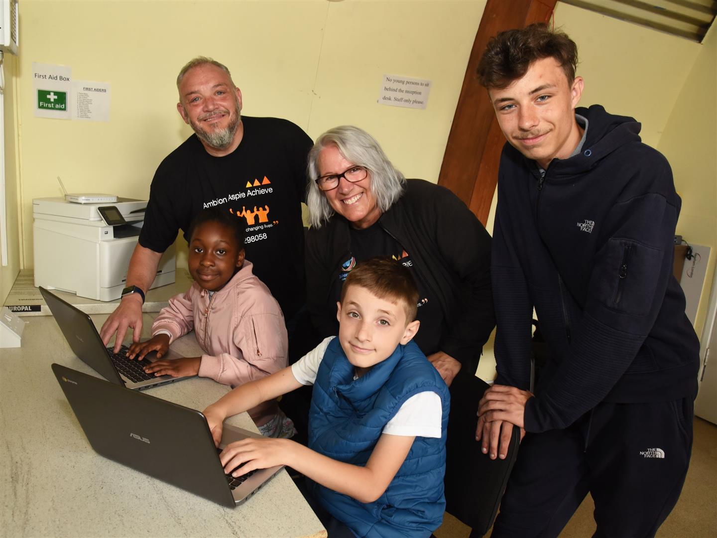 Canning Town charity Ambition Aspire Achieve gets needed PC equipment