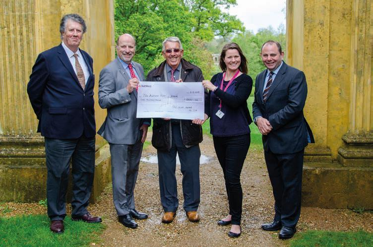 The Lodge of Nine Muses makes National Trust donation
