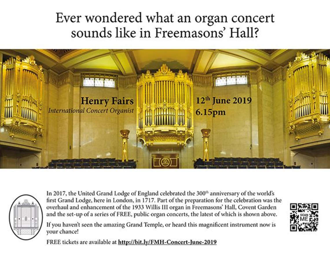 Freemasons Hall Organ Concert