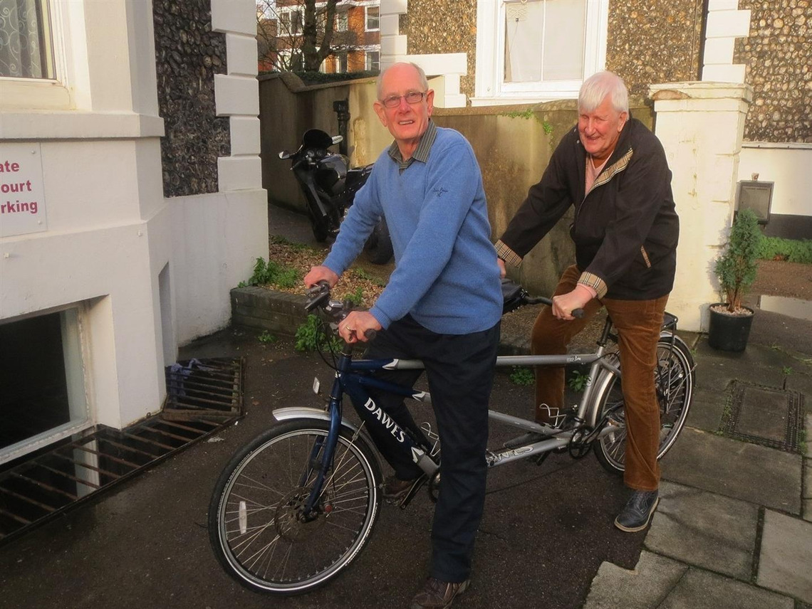 Two members cycle from Brighton to Paris