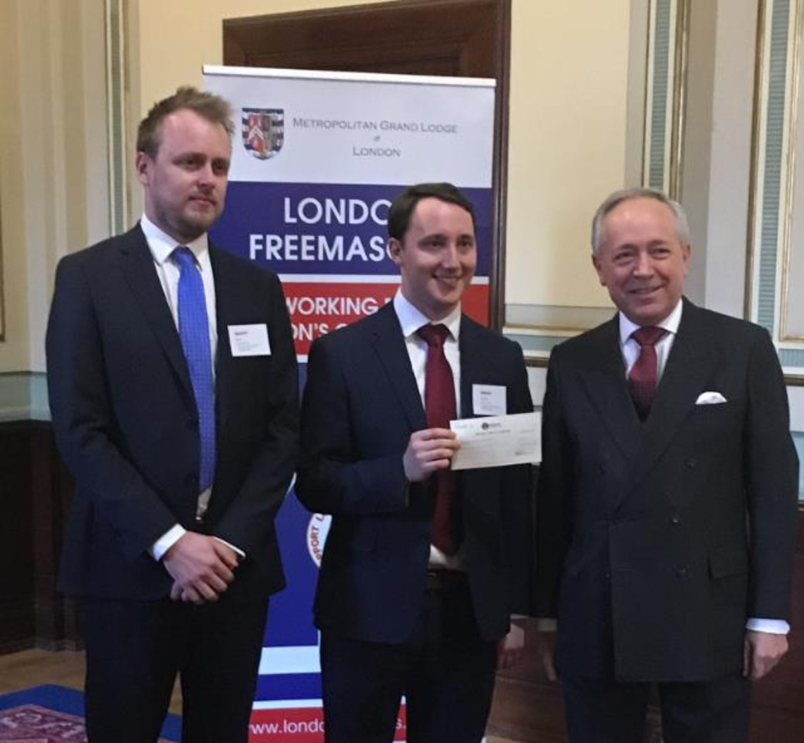 Charities Cheque Presentation at Freemasons Hall
