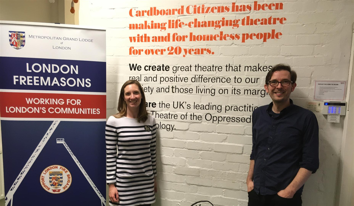 Cardboard Citizens Charity receives boost thanks to London Freemasons
