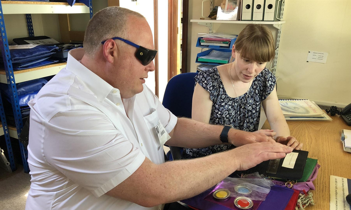 Visually impaired children get chance to read with help from London Masons