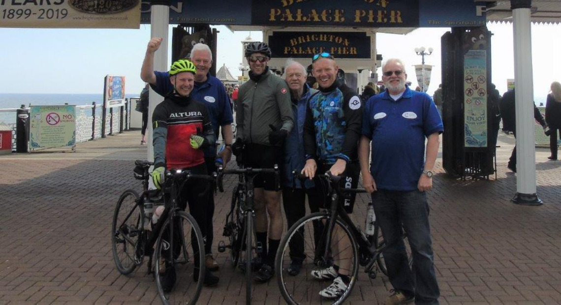 Two London Masons complete a Brewood to Brighton 240-mile Charity Road Challenge
