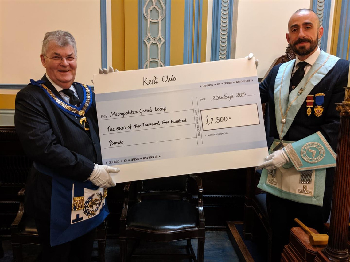 Kent Club makes donation towards the London Fire Brigade Appeal