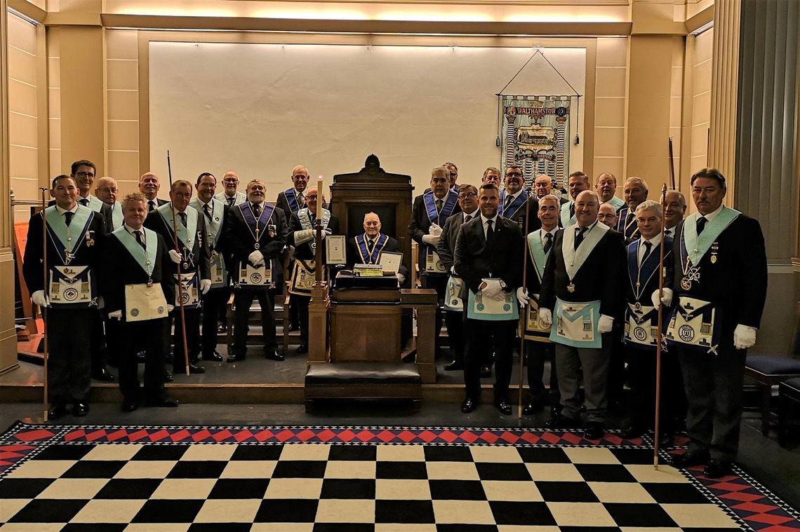 Walthamstow Lodge No 2472 celebrates their (nearly!) 100year-old brother