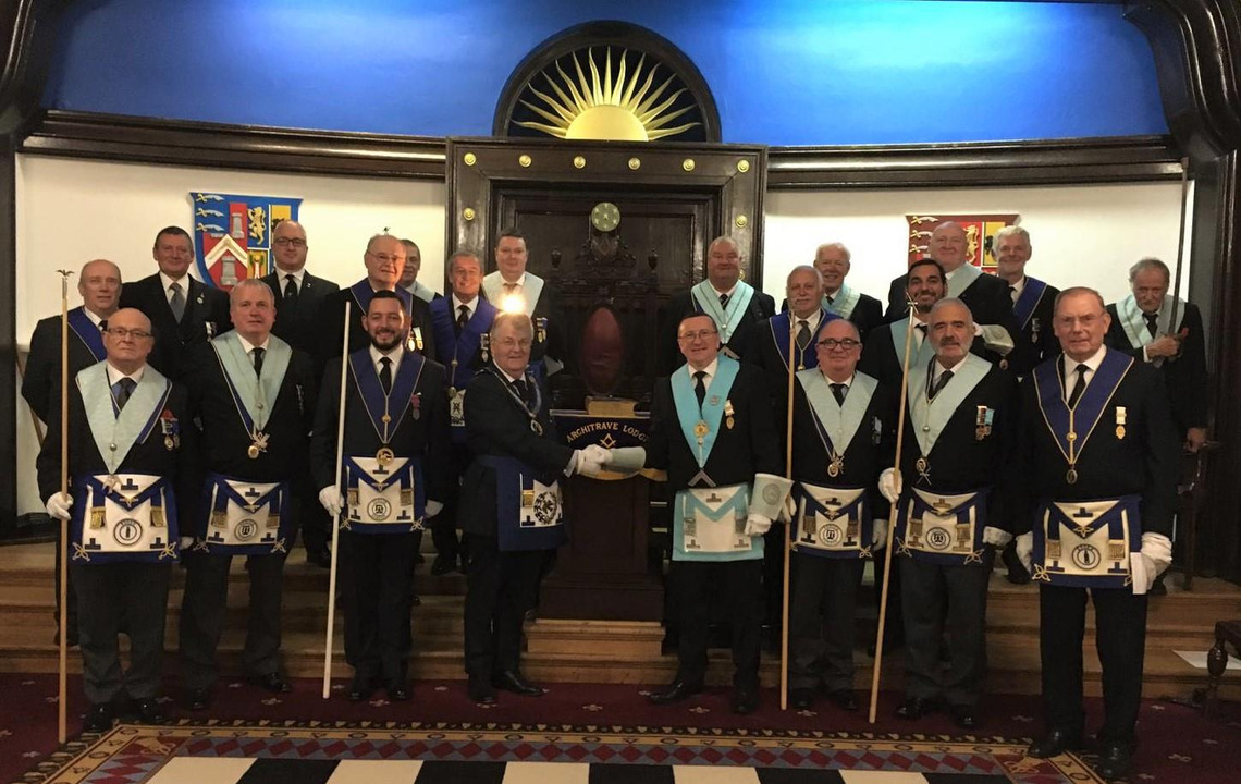 Architrave Lodge No 8065 welcomes Metropolitan Grand Inspector to Chingford