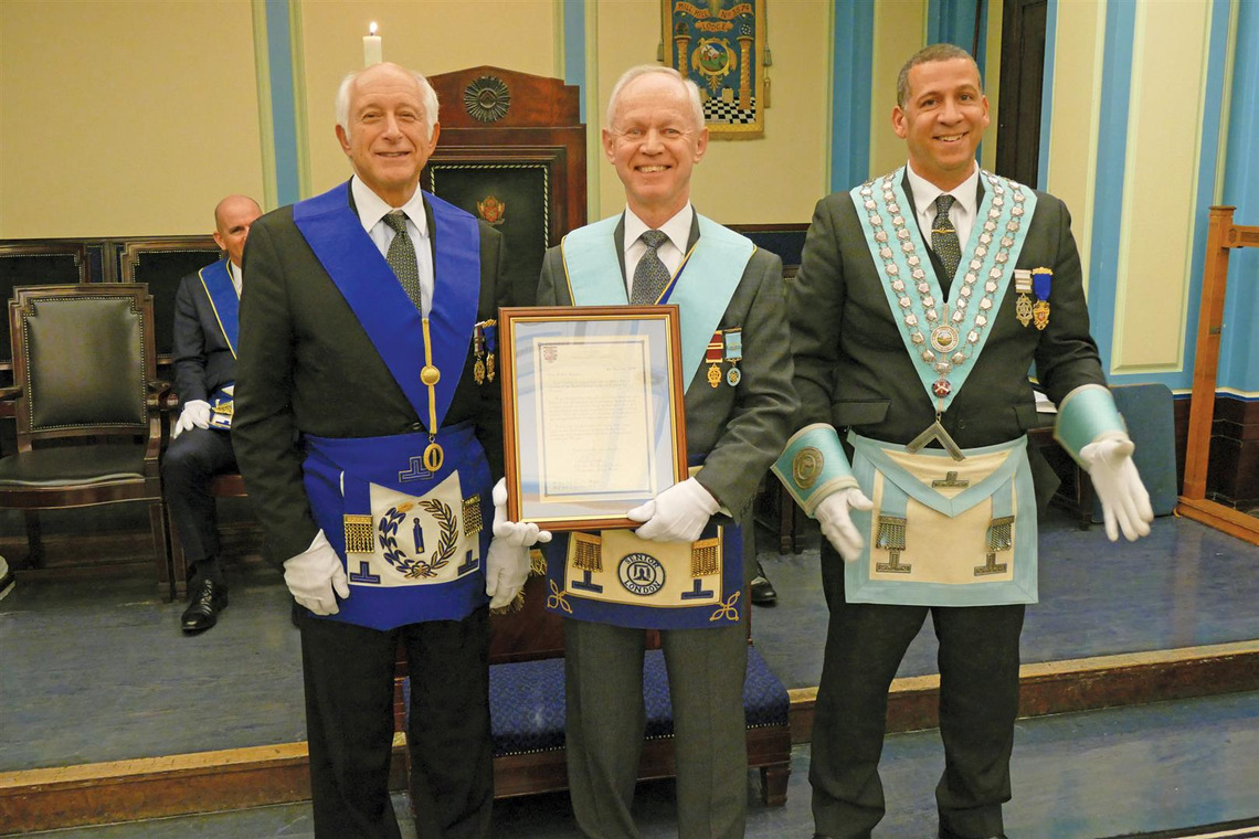 MILL HILL LODGE NO 3574 CELEBRATE FIFTY YEARS OF SERVICE