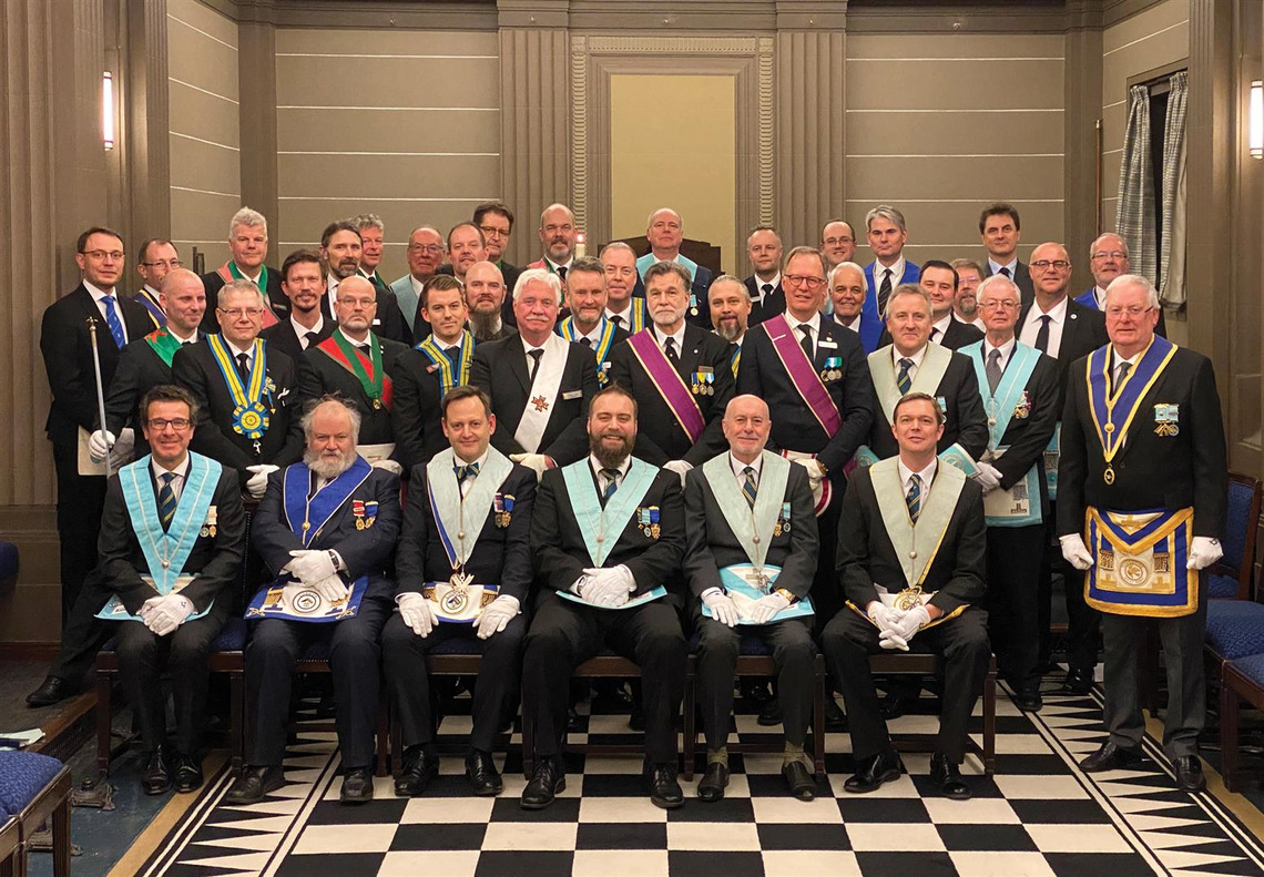 THE OLD REPTONIAN LODGE ESTABLISHES LINKS WITH FREEMASONS FROM SWEDEN